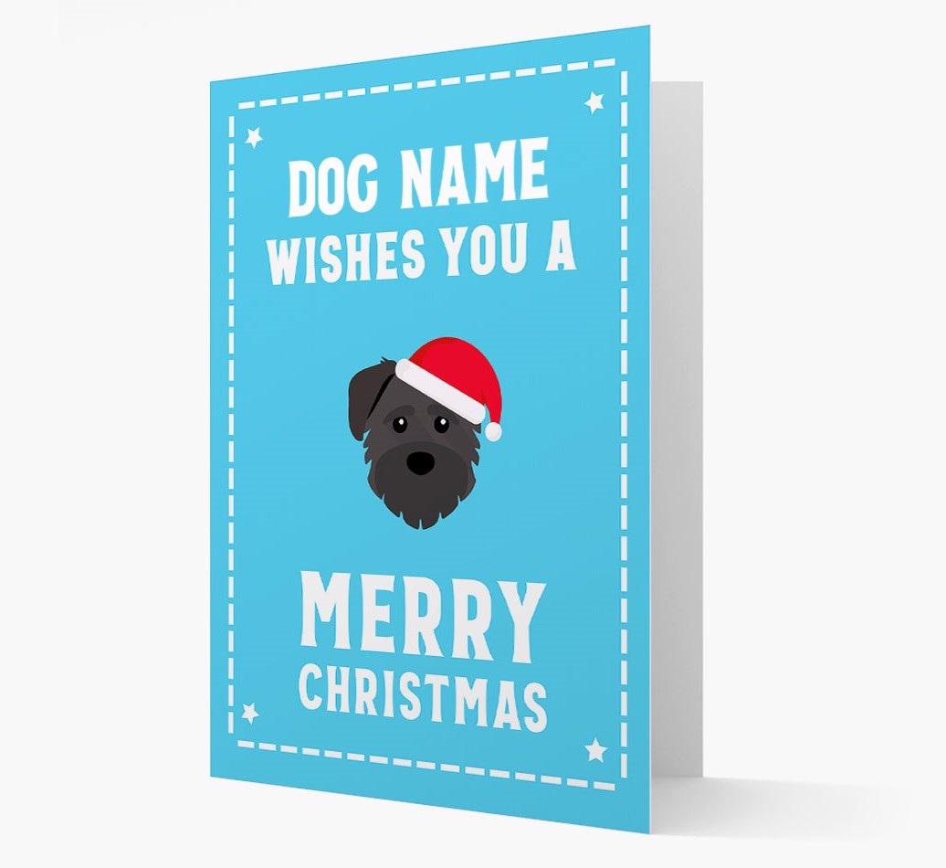 'Christmas Wishes' Card with your Schnoodle Christmas Icon