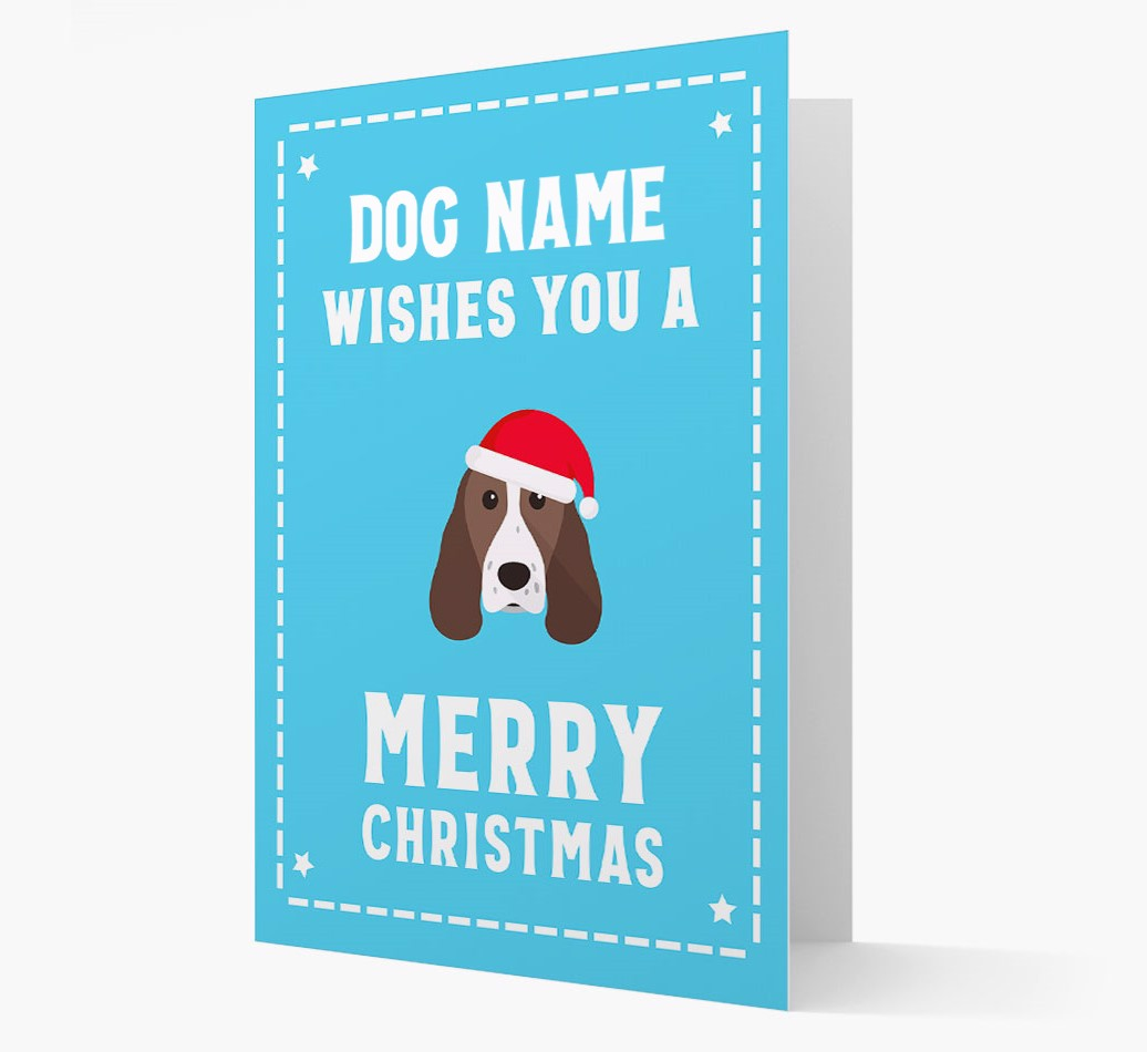 'Christmas Wishes' Card with your Springer Spaniel Christmas Icon