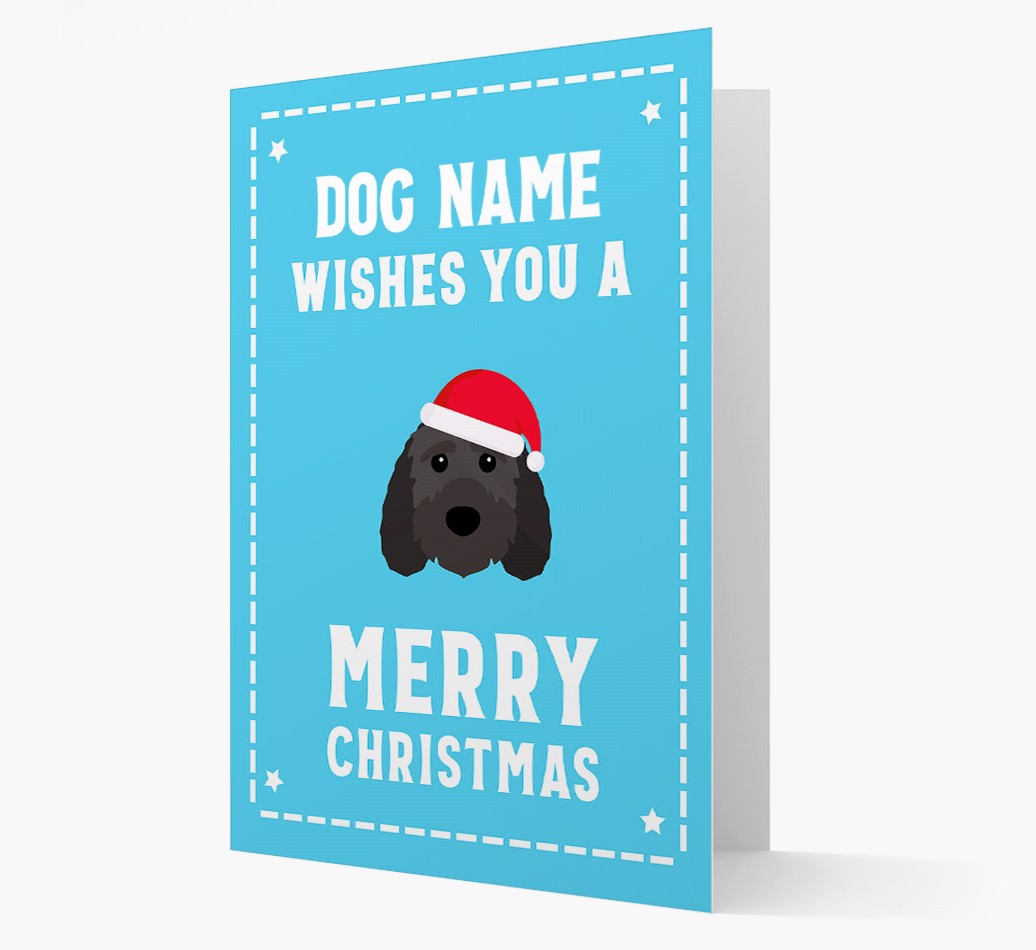 'Christmas Wishes' Card with your Sproodle Christmas Icon