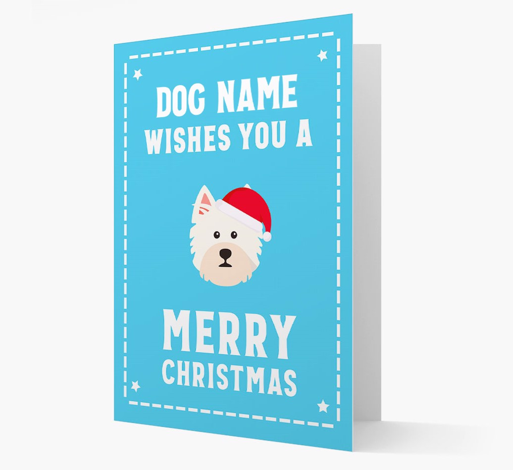 'Christmas Wishes' Card with your West Highland White Terrier Christmas Icon
