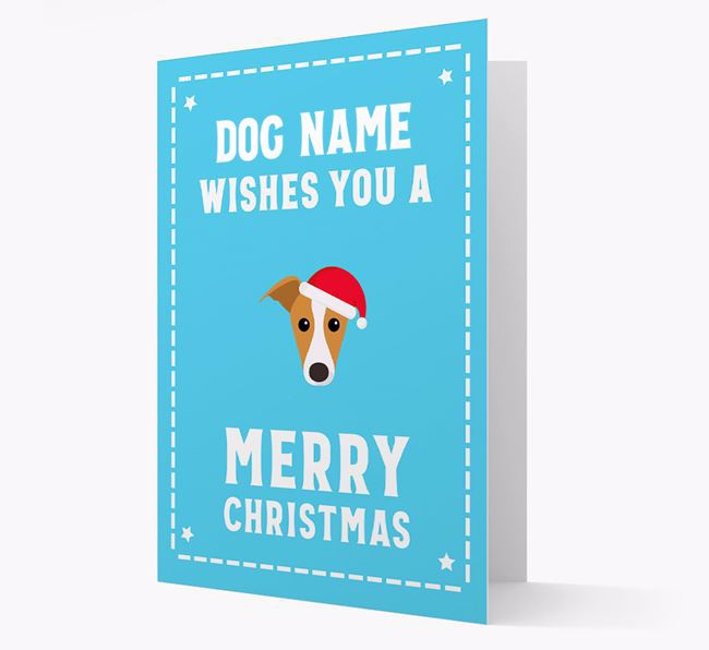 'Christmas Wishes' Card with your Whippet Christmas Icon