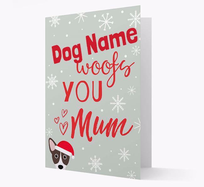 'I Woof You Mum' Card with your Cojack Christmas Icon