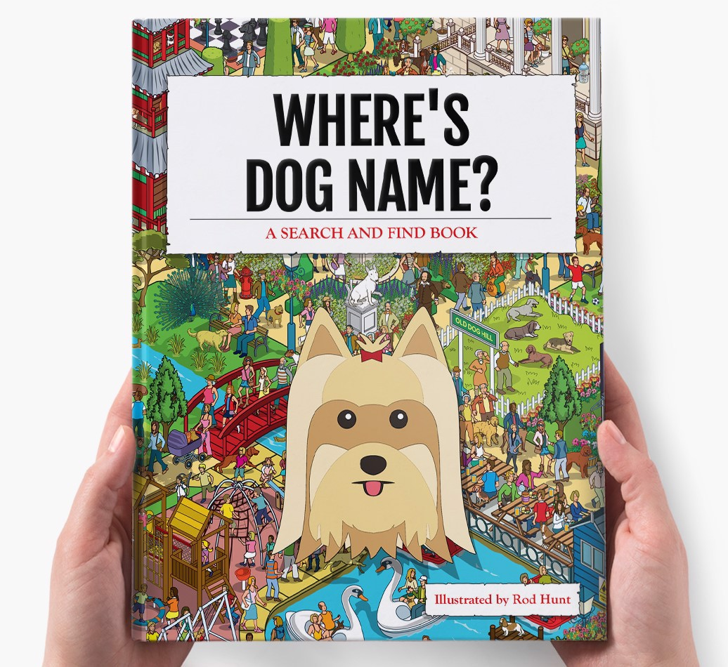 Personalised Where's Dog Name Book - holding in hands