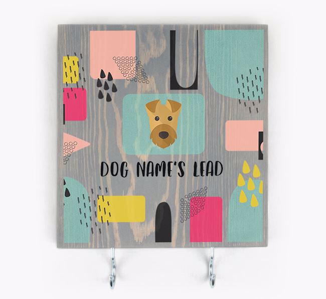 Personalised Wooden Sign 'Your Dog's Lead' with Airedale Terrier Icon