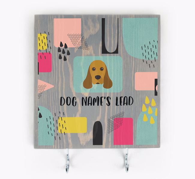 Personalised Wooden Sign 'Your Dog's Lead' with American Cocker Spaniel Icon