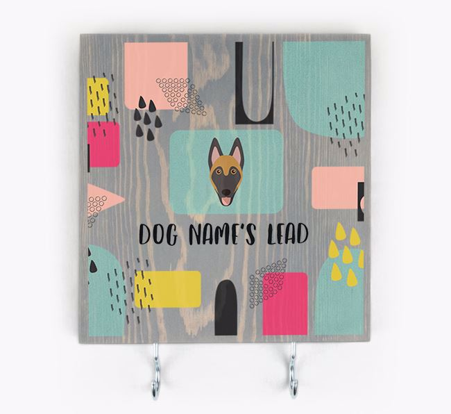 Personalised Wooden Sign 'Your Dog's Lead' with Belgian Malinois Icon