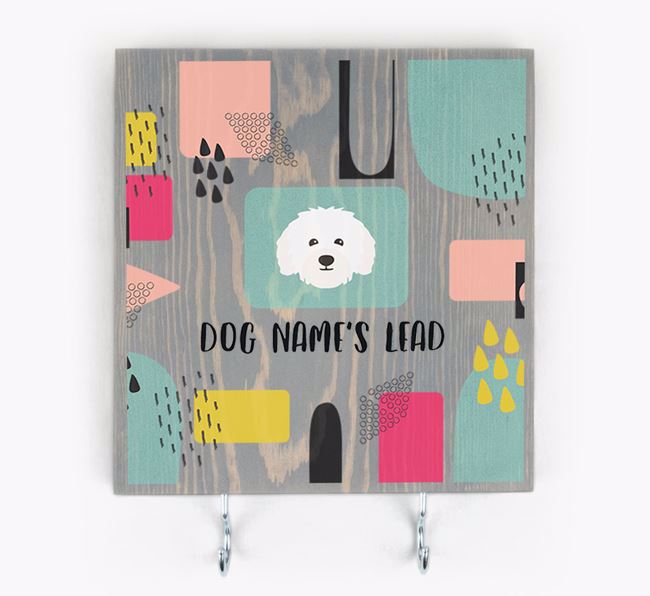 Personalised Wooden Sign 'Your Dog's Lead' with Bolognese Icon