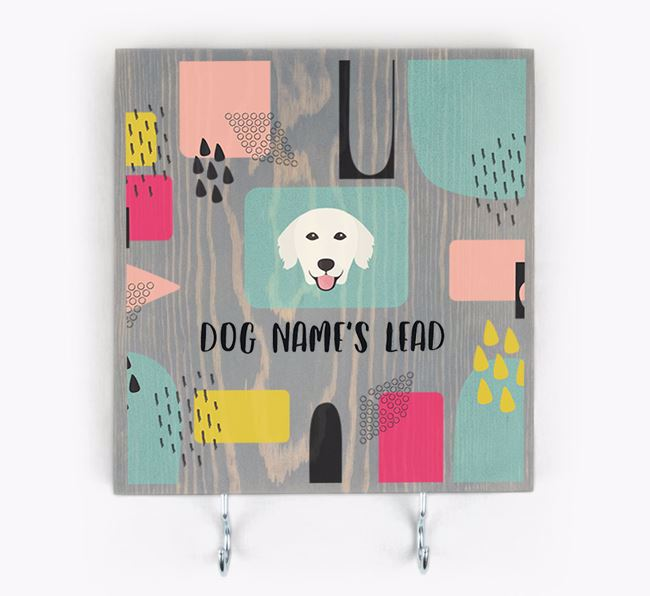 Personalised Wooden Sign 'Your Dog's Lead' with Golden Retriever Icon
