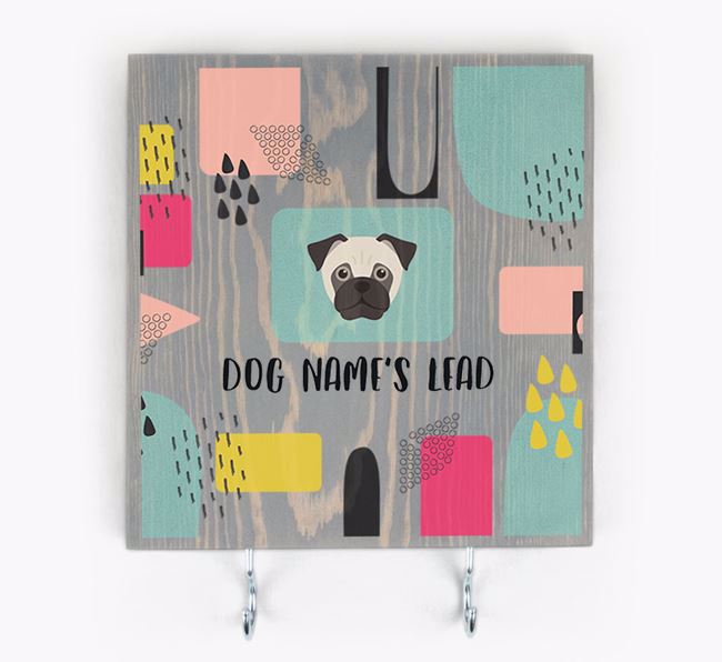 Personalised Wooden Sign 'Your Dog's Lead' with Jug Icon