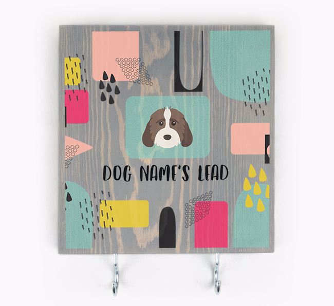 Personalised Wooden Sign 'Your Dog's Lead' with Mixed Breed Icon