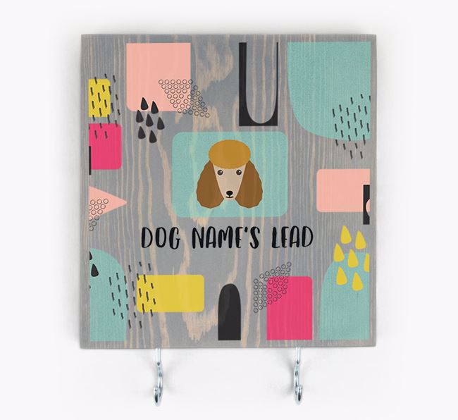 Personalised Wooden Sign 'Your Dog's Lead' with Poodle Icon