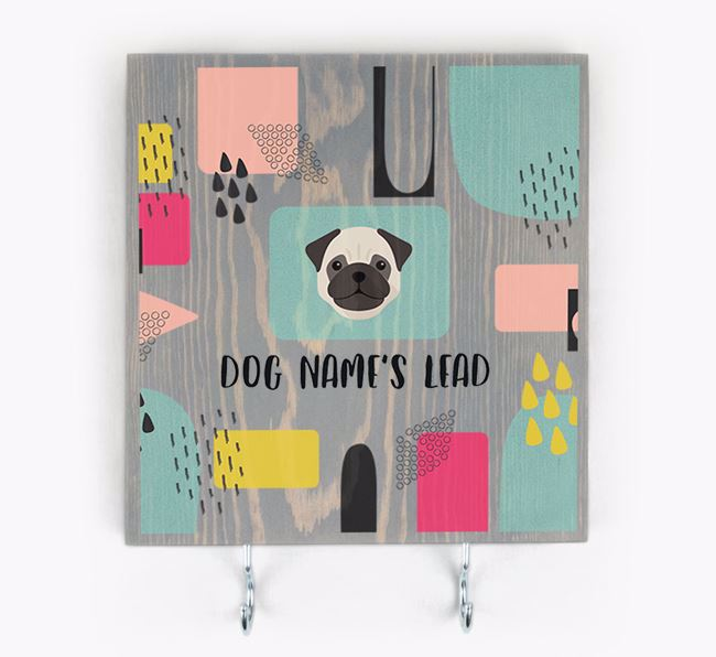 Personalised Wooden Sign 'Your Dog's Lead' with Dog Icon