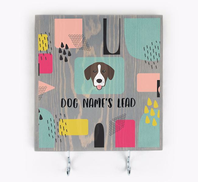 Personalised Wooden Sign 'Your Dog's Lead' with Springador Icon