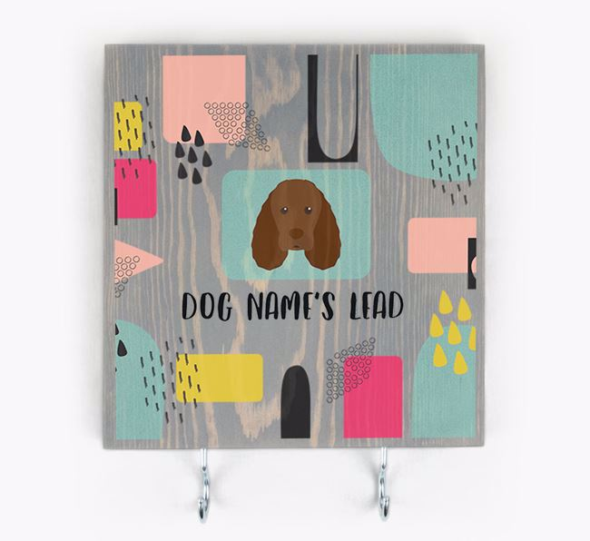 Personalised Wooden Sign 'Your Dog's Lead' with Sussex Spaniel Icon