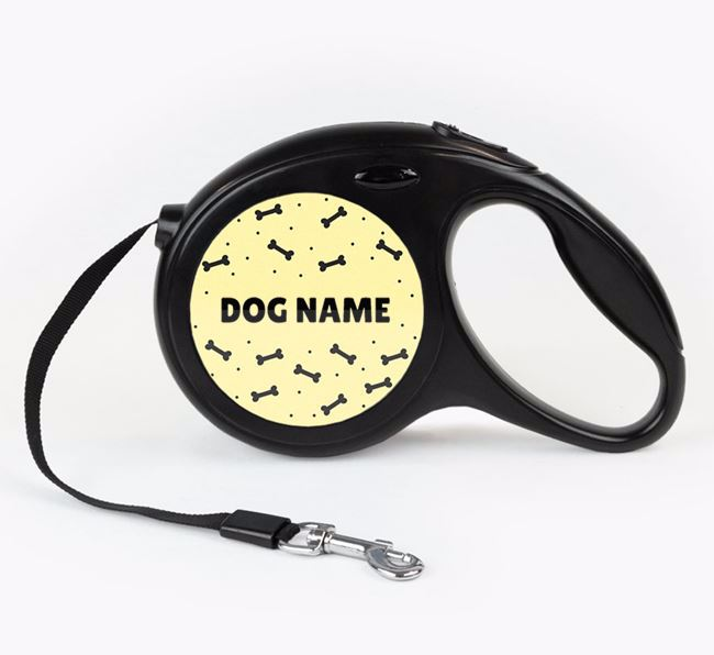 Personalised Retractable Lead with Bone Pattern for your Beagle