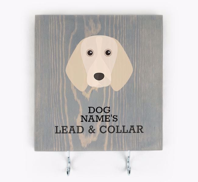 Personalised Wooden Sign 'Your Dog's Lead & Collar' with Beagle Icon