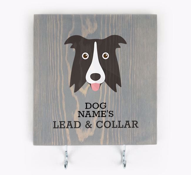 Personalised Wooden Sign 'Your Dog's Lead & Collar' with Dog Icon