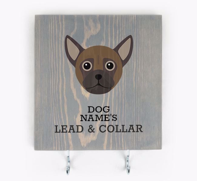 Personalised Wooden Sign 'Your Dog's Lead & Collar' with Chug Icon