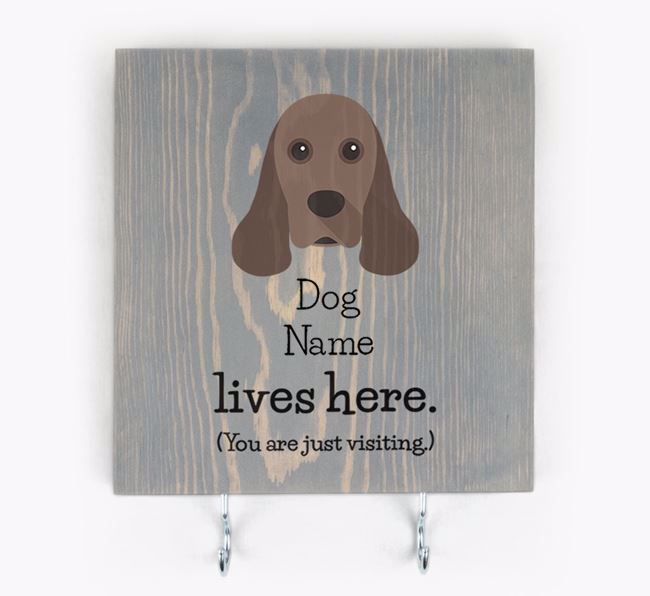 Personalised Wooden Sign 'Your Dog Lives Here' with American Cocker Spaniel Icon