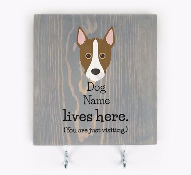 Personalised Wooden Sign 'Your Dog Lives Here' with Mixed Breed Icon