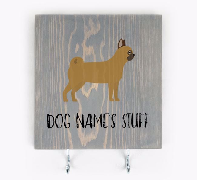 Personalised Wooden Sign 'Your Dog's Stuff' with Chug Icon