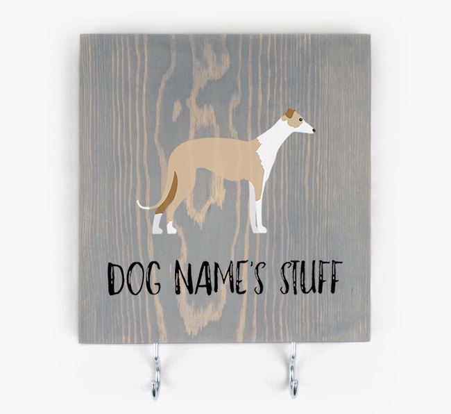 Personalised Wooden Sign 'Your Dog's Stuff' with Dog Icon