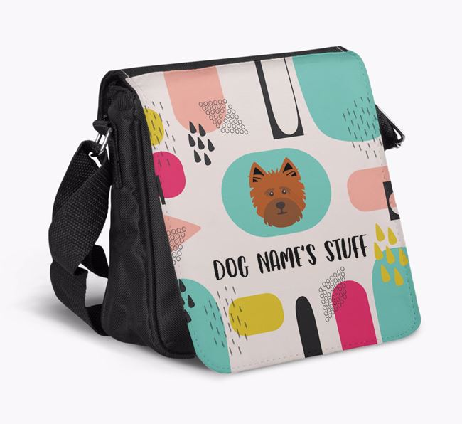 Personalised Shoulder Bag with Abstract Pattern and Cairn Terrier Icon
