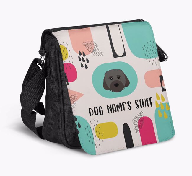 Personalised Shoulder Bag with Abstract Pattern and Cavachon Icon