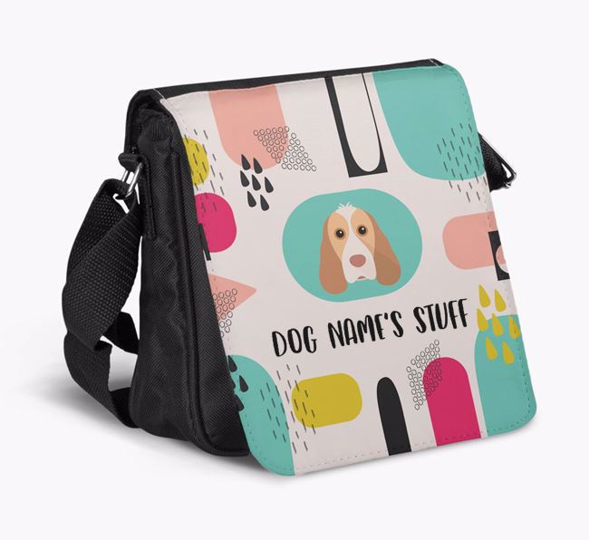 Personalised Shoulder Bag with Abstract Pattern and Cocker Spaniel Icon