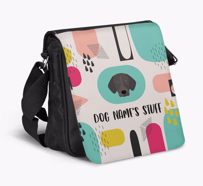 Personalised Shoulder Bag with Abstract Pattern and German Shorthaired Pointer Icon