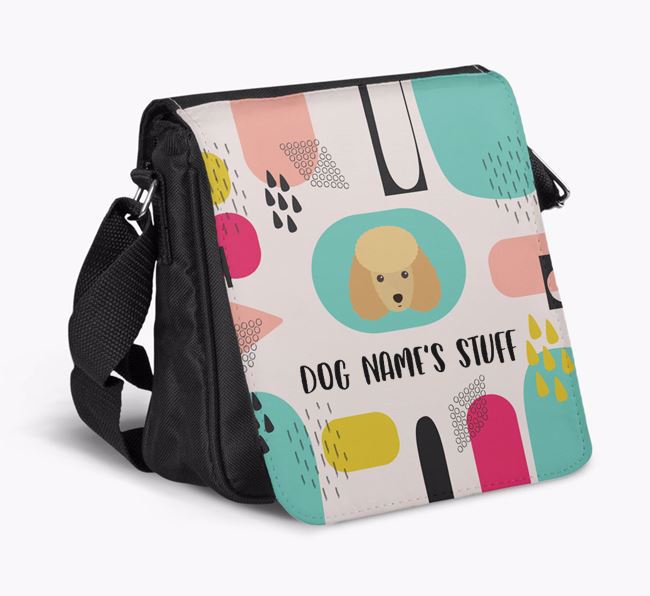 Personalised Shoulder Bag with Abstract Pattern and Miniature Poodle Icon
