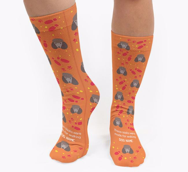 Personalised 'These socks were made for walking Your Dog' Socks