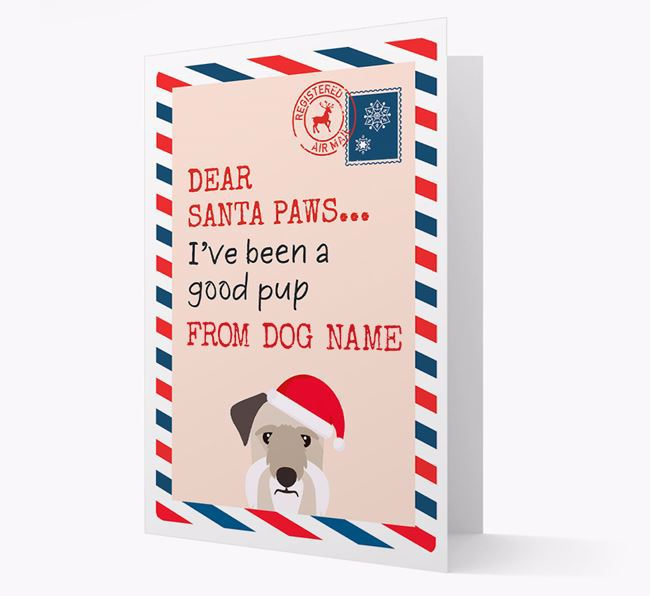 'Dear Santa' Card with your Cesky Terrier Christmas Icon