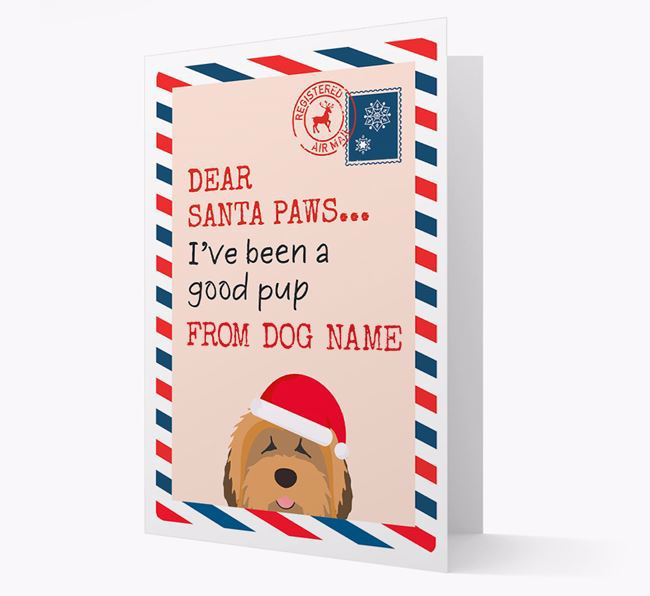 'Dear Santa' Card with your Tibetan Terrier Christmas Icon