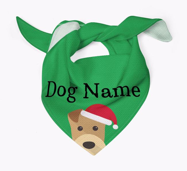 Personalized Christmas Airedale Terrier Icon 'Peeking' Bandana