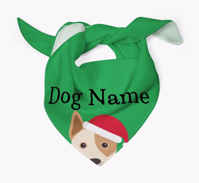 Personalised Christmas Australian Cattle Dog Icon 'Peeking' Bandana