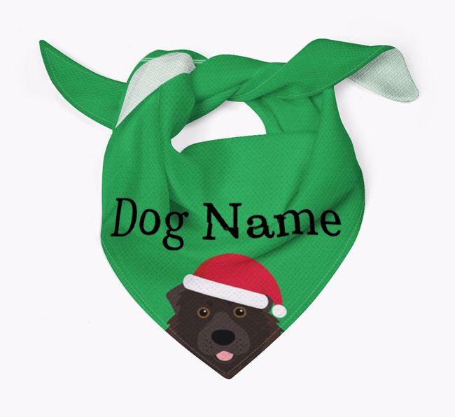 Personalised Christmas Caucasian Shepherd Dog Icon 'Peeking' Bandana