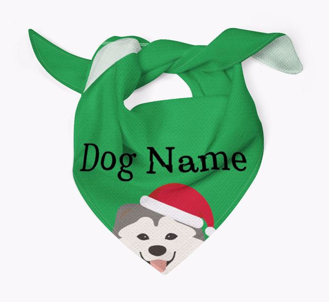 Personalised Christmas Chusky Icon 'Peeking' Bandana