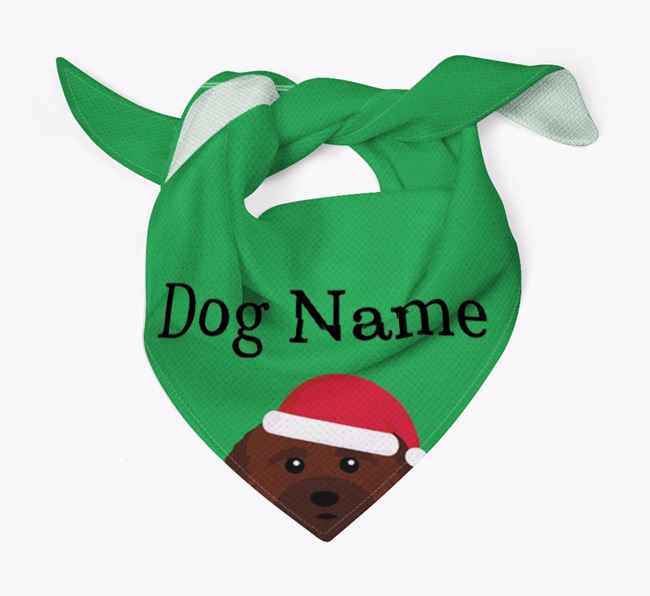 Personalised Christmas Cockachon Icon 'Peeking' Bandana
