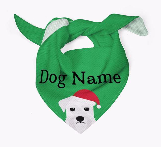 Personalised Christmas Giant Schnauzer Icon 'Peeking' Bandana