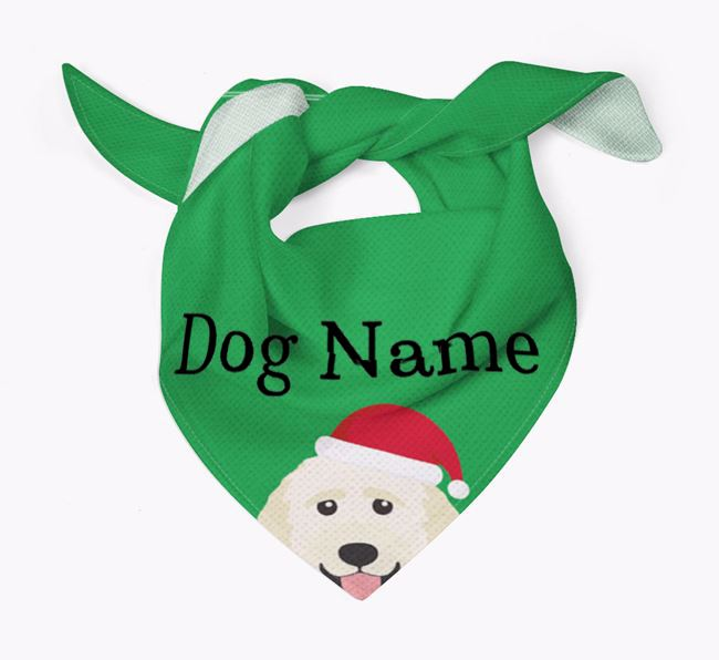 Personalised Christmas Goldendoodle Icon 'Peeking' Bandana