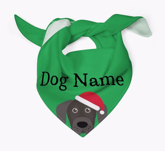 Personalised Christmas Great Dane Icon 'Peeking' Bandana