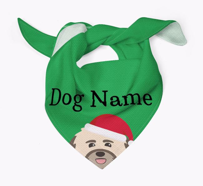 Personalised Christmas Havanese Icon 'Peeking' Bandana