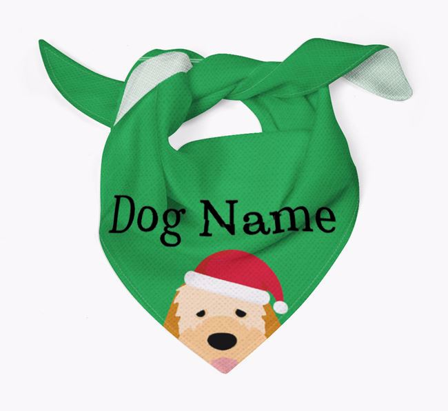 Personalised Christmas Italian Spinone Icon 'Peeking' Bandana
