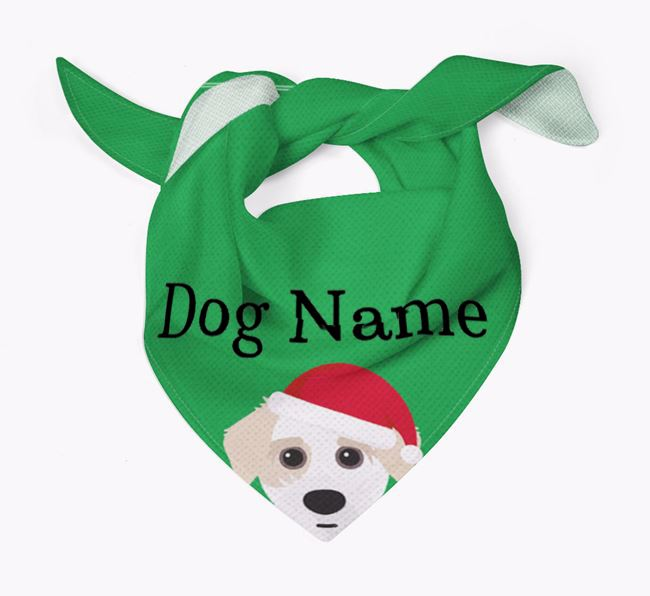 Personalised Christmas Jacktzu Icon 'Peeking' Bandana