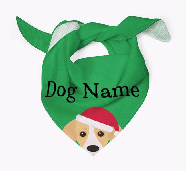 Personalised Christmas Kokoni Icon 'Peeking' Bandana
