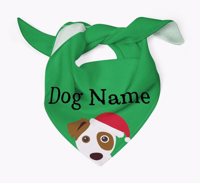 Personalised Christmas Parson Russell Terrier Icon 'Peeking' Bandana