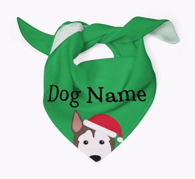 Personalised Christmas Pitsky Icon 'Peeking' Bandana