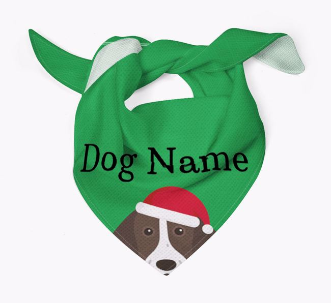 Personalized Christmas Pointer Icon 'Peeking' Bandana