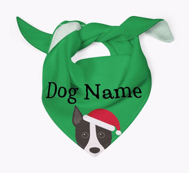 Personalised Christmas Portuguese Podengo Icon 'Peeking' Bandana